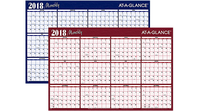 AT-A-GLANCE XL 2-Sided Horizontal Erasable Wall Calendar  (A152)