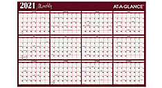 XL 2-Sided Horizontal Erasable Wall Calendar (Item # A152)