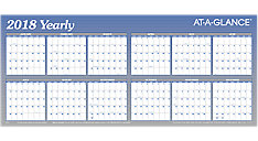 XL Horizontal Erasable Wall Calendar (Item # A177)