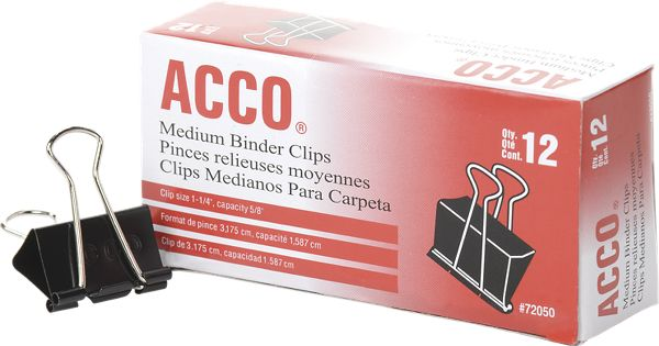 Acco Binder Clips Medium - Staples & Clips