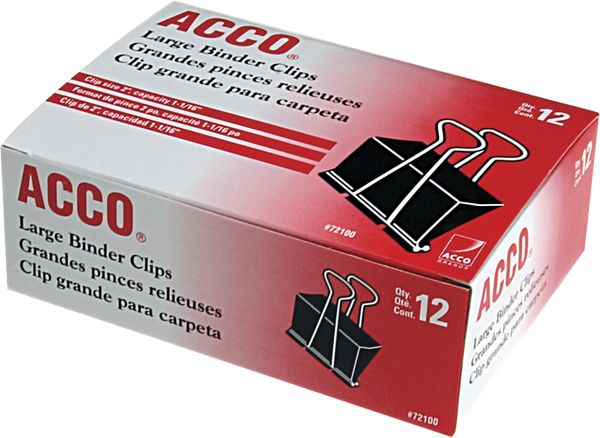 Acco Binder Clips Large - Staples & Clips