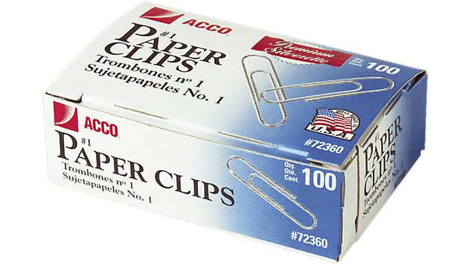 ACCO Premium Paper Clips Smooth Finish  (A7072360)