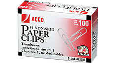 Economy Paper Clips Non-skid Finish (Item # A7072385)