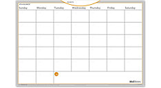 WallMates Dry Erase Monthly Planning Surface (Item # AW4020)