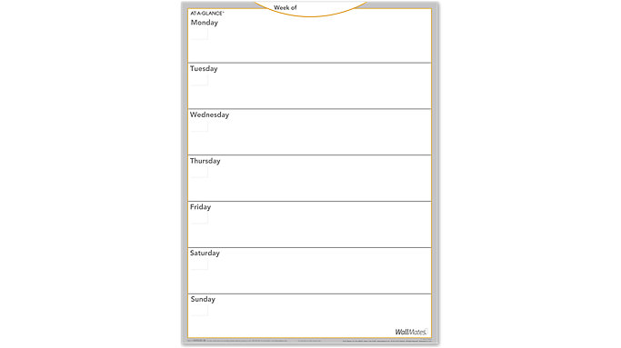 AT-A-GLANCE WallMates Dry Erase Weekly Planning Surface  (AW5030)
