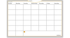 WallMates Dry Erase Monthly Planning Surface (Item # AW6020)