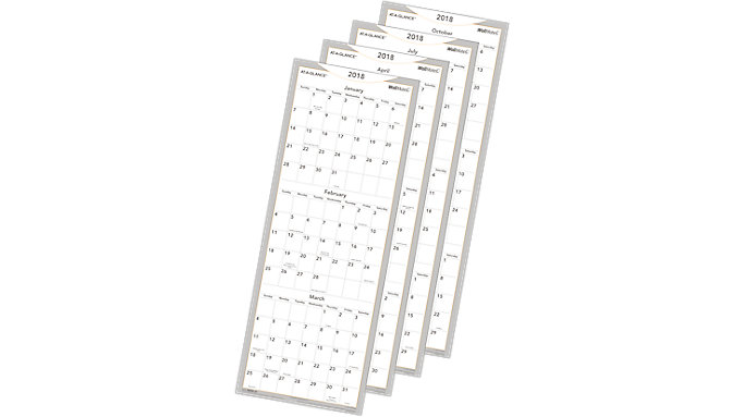 AT-A-GLANCE WallMates Quarterly Dry Erase Wall Planner  (AW6062)