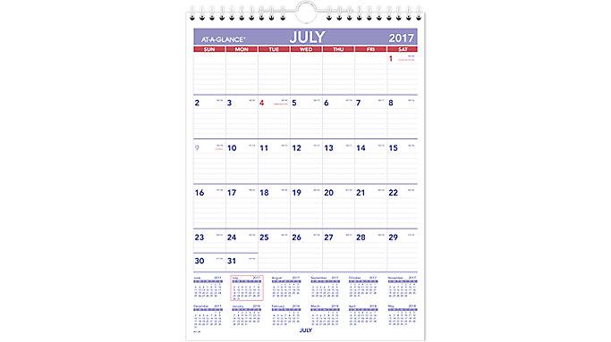 AT-A-GLANCE Academic Plan-A-Month Wall Calendar  (AY1)