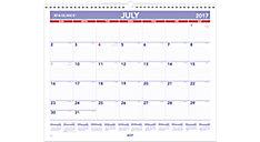 Academic Plan-A-Month Wall Calendar (Item # AY8)