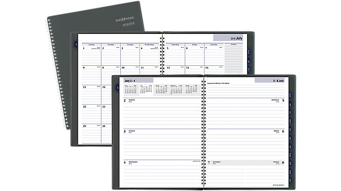 at a glance academic weekly monthly planner ayc545