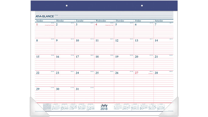 AT-A-GLANCE 2 Color Academic Monthly Desk Pad  (AYST24)