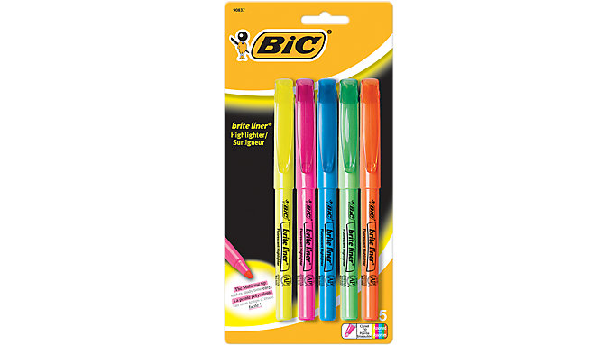 BIC Brite Liner Highlighter Pen-Style  (BLP51W)