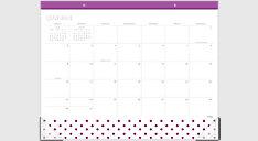 Desk Calendar Desk Blotter Mead - Desk blotter calendar