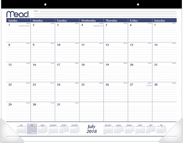 Mead Academic Monthly Desk Pad - Desk Calendars