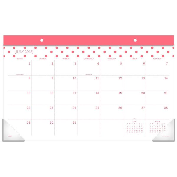 Mead Fashion Academic Compact Monthly Desk Pad - Desk Calendars