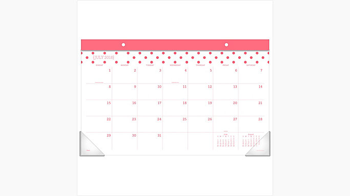 fashion academic compact monthly desk pad cam103 mead