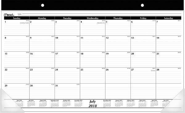 Mead Academic Compact Monthly Desk Pad - Desk Calendars