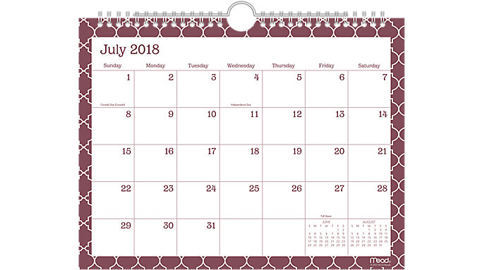 Mead Caprice Academic Monthly Wall Calendar  (CAM204)