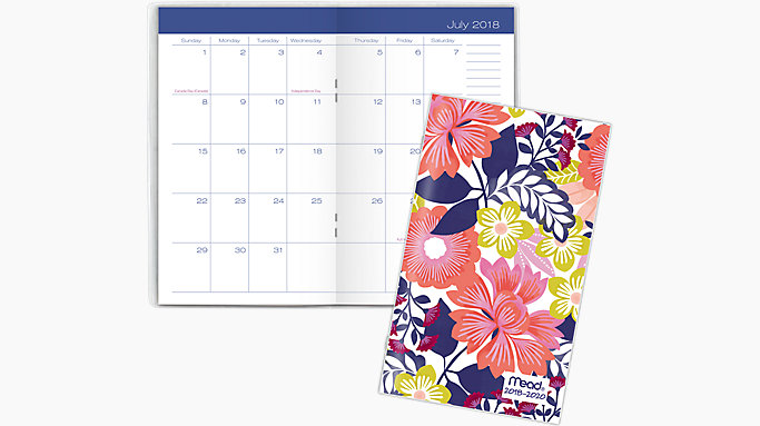 academic 2 year monthly pocket planner cam365 mead
