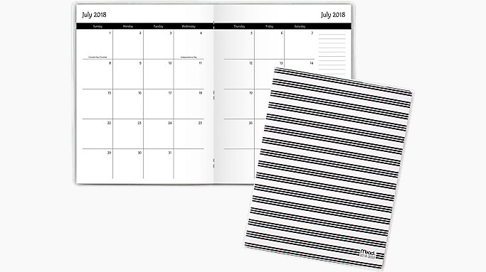 simplicity academic 2 year monthly planner cam502 mead
