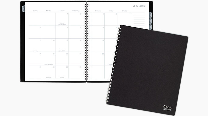 mead basic academic monthly planner cam601