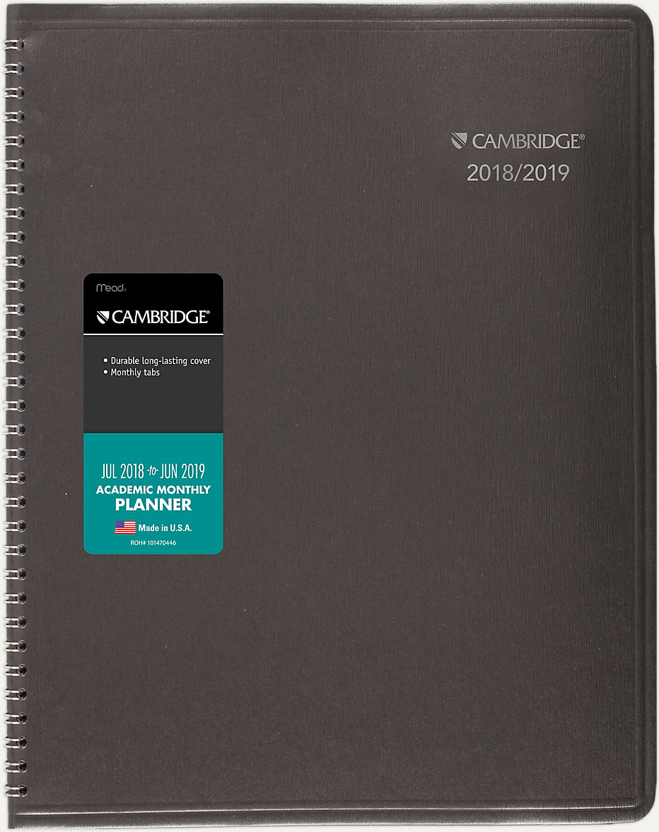 business academic monthly planner cam602 cambridge