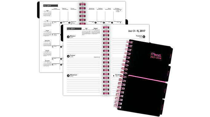 Mead Academic Weekly-Monthly Pocket Planner with Bungee  (CAW304)