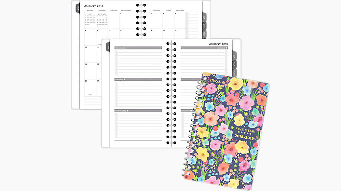 mead in bloom academic weekly monthly planner caw357