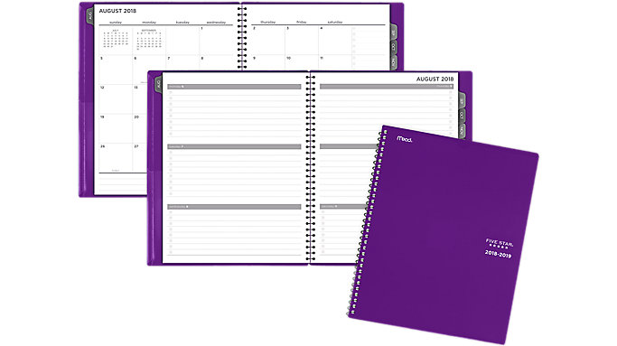 Five Star Customize Weekly-Monthly Student Planner  (CAW502)