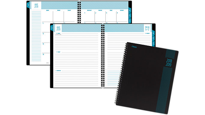 Mead Type Treatment Weekly-Monthly Student Planner  (CAW505)