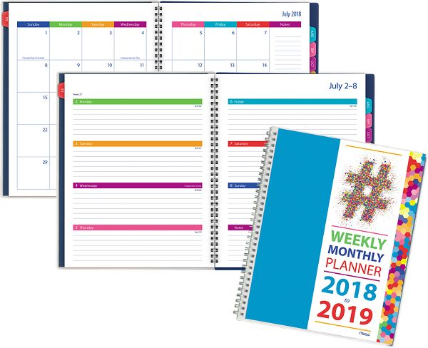 mead typography academic weekly monthly planner planners
