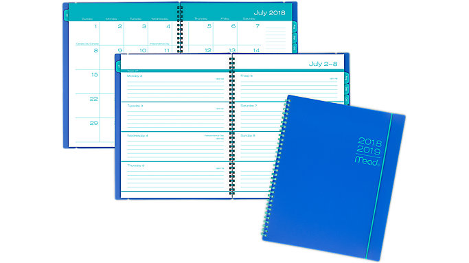 Mead Color Pop Academic Weekly-Monthly Planner  (CAW602)
