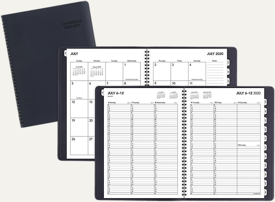 Three Year Pocket Planner Monthly Journal Tropical flowers 2019-2021 Calendar Planner