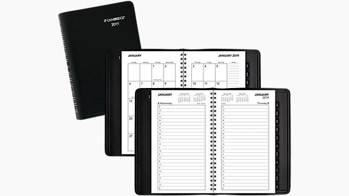 business daily monthly appointment book planner crd402 mead