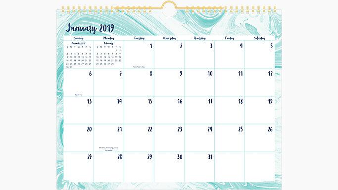 c4c63850677 Artisan Monthly Wall Calendar | CRM211 | Mead