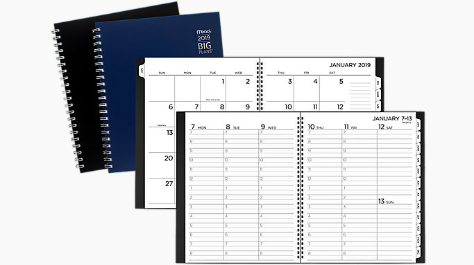big plans weekly monthly appointment book planner crw630 mead