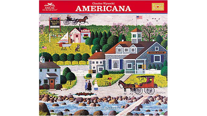 AMCAL Charles Wysocki Americana Wall Calendar  (CWCW04)