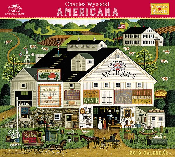Amcal Charles Wysocki Americana Wall Calendar - Decorative Calendars