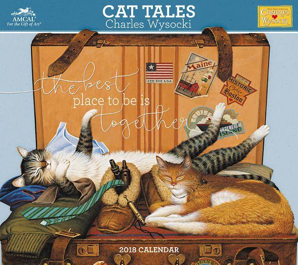 Amcal Charles Wysocki Cat Tales Wall Calendar - Wall Calendars