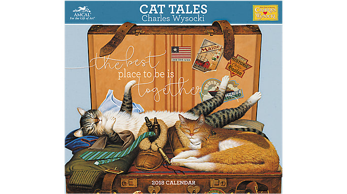 AMCAL Charles Wysocki Cat Tales Wall Calendar  (CWCW05)