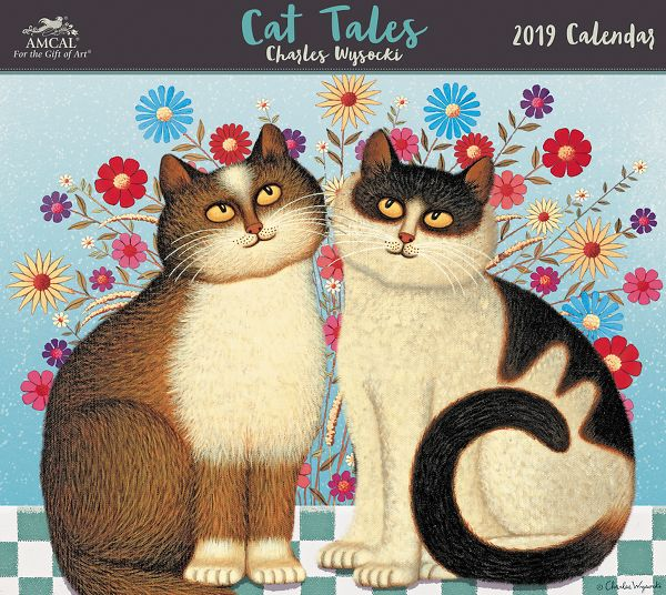 Amcal Charles Wysocki Cat Tales Wall Calendar - Animals