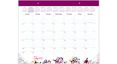 June Academic Monthly Desk Pad (Item # D1012-704A)