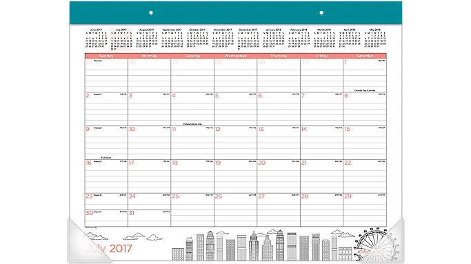 AT-A-GLANCE Paint the Town Academic Monthly Desk Pad  (D1017-704A)