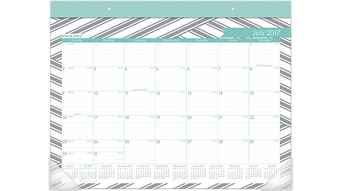 AT-A-GLANCE Sprinkle Academic Monthly Desk Pad  (D1024-704A)
