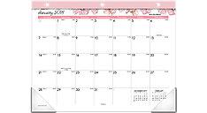 Blush Mini Monthly Desk Pad (Item # D1041-706)