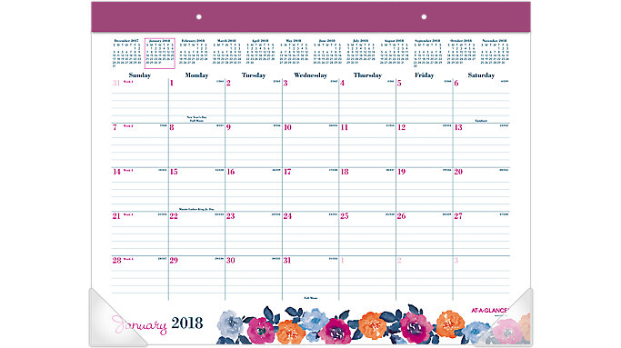 AT-A-GLANCE Eva Monthly Desk Pad  (D1044-704)