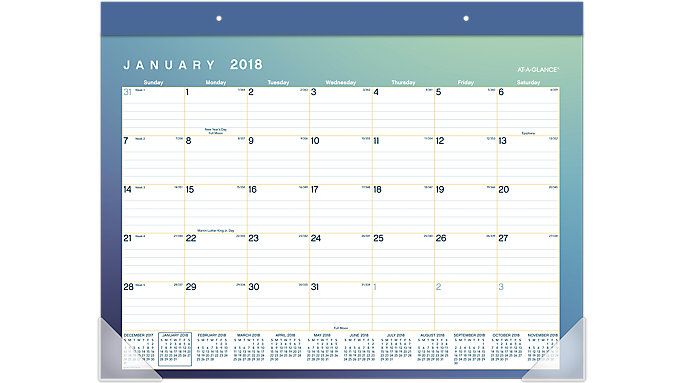 AT-A-GLANCE Aurora Monthly Desk Pad  (D1054-704)