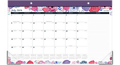 Midnight Rose Academic Compact Monthly Desk Pad (Item # D1101-705A)