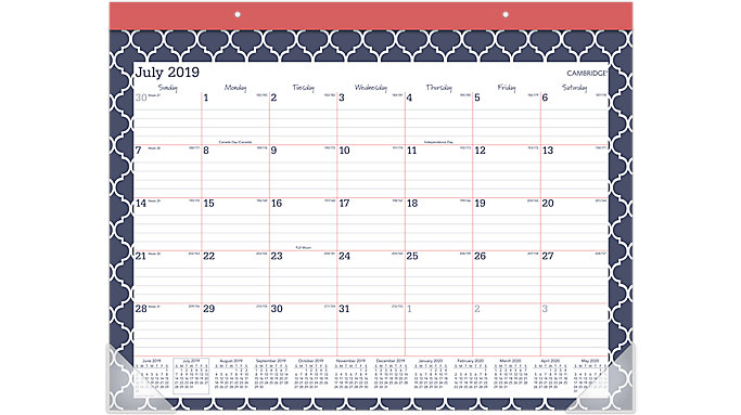 AT-A-GLANCE Emma Morrocan Academic Monthly Desk Pad  (D1116M-704A)