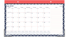 Emma Morrocan Academic Compact Monthly Desk Pad (Item # D1116M-705A)